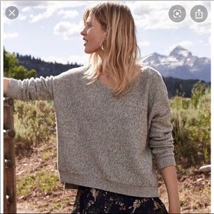 Anthropologie Moth Fairview Pullover in Gray